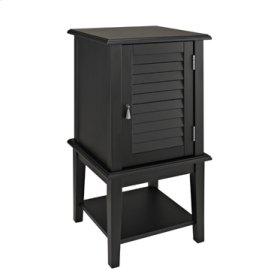 Black Shutter Door Table