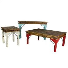 Red End Table Indian Painted Table Collection