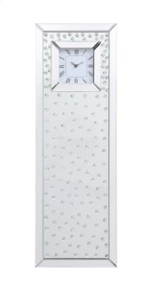 Sparkle 35 in. Contemporary Clear Crystal Wall Clock