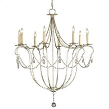 Crystal Lights Silver Large Chandelier