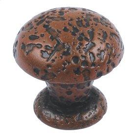 Olde World Knob 1 Inch - Rust