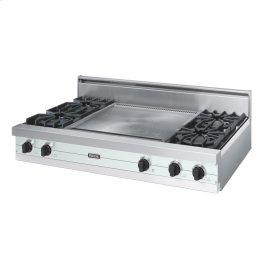 "Sea Glass 48"" Open Burner Rangetop - VGRT (48"" wide, four burners 24"" wide griddle/simmer plate)"
