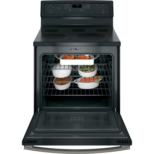 """GE Profile™ Series 30"""" Free-Standing Electric Convection Range"""