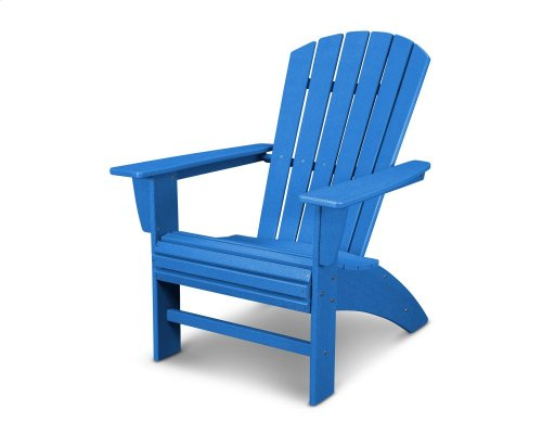 Vintage Pacific Blue Nautical Curveback Adirondack Chair in Vintage Finish