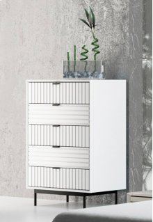 Nova Domus Valencia Contemporary White Chest