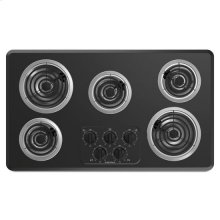 36-inch Electric Cooktop with 5 Elements - black