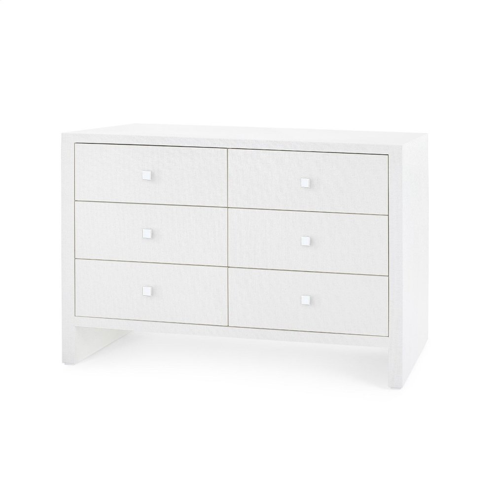 Morgan Extra Large 6-Drawer, White