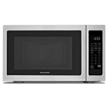 KitchenAid® 1200-Watt Countertop Microwave Oven - Black-on-Stainless