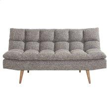 Ethan Convertible Sofa in Black & White