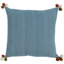 "Dhaka DH-003 18"" x 18"" Pillow Shell with Down Insert"