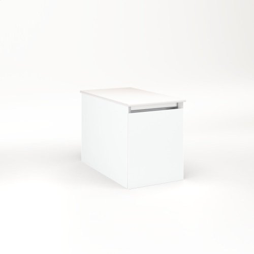 """Cartesian 12-1/8"""" X 15"""" X 21-3/4"""" Single Drawer Vanity In Matte White With Slow-close Full Drawer and No Night Light"""