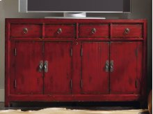 """Red 58.25"""" Entertainment Console"""