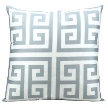 "Outdoor Pillow As047 Grey 20"" X 20"" Throw Pillow"