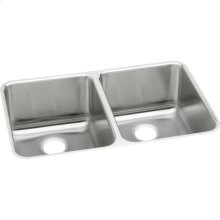 """Elkay Lustertone Classic Stainless Steel 35-3/4"""" x 18-1/2"""" x 10"""", Equal Double Bowl Undermount Sink"""