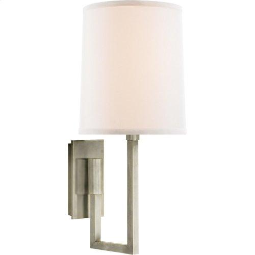 Visual Comfort BBL2027PWT-L Barbara Barry Aspect 1 Light 6 inch Pewter Finish Decorative Wall Light