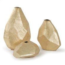 Geo Vase Set of Three (matte Gold)