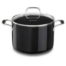 Aluminum Nonstick 8.0-Quart Stockpot with Lid - Onyx Black