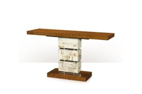 A Trio of Textures Console Table