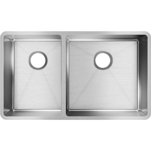 "Elkay Crosstown Stainless Steel 31-1/2"" x 18-1/2"" x 9"", 40/60 Double Bowl Undermount Sink"
