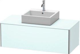 Vanity Unit For Console Wall-mounted, Light Blue Matt Decor
