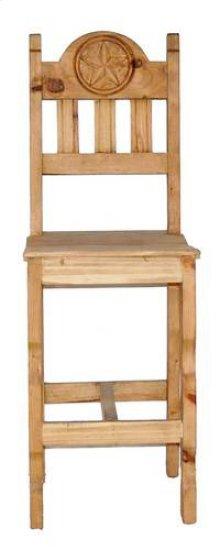 Star Barstool W/wood Seat
