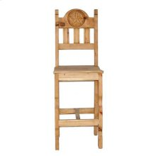 Star Barstool W/wood Seat