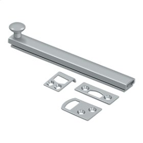 """6"""" Surface Bolt, Concealed Screw, HD - Brushed Chrome"""