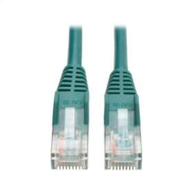 Cat5e 350MHz Snagless Molded Patch Cable (RJ45 M/M) - Green, 15-ft.