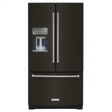 26.8 cu. ft. 36-Inch Width Standard Depth French Door Refrigerator with Exterior Ice and Water and PrintShield Finish - Black Stainless Steel with PrintShield™ Finish