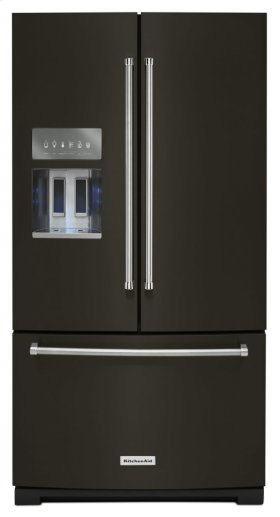26.8 cu. ft. 36-Inch Width Standard Depth French Door Refrigerator with Exterior Ice and Water - Black Stainless
