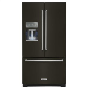Kitchenaid26.8 cu. ft. 36-Inch Width Standard Depth French Door Refrigerator with Exterior Ice and Water and PrintShield Finish - Black Stainless Steel with PrintShield™ Finish