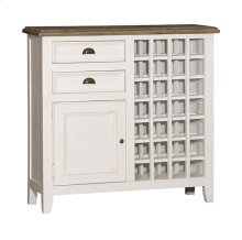 Tuscan Retreat® Rose Bay Wine Rack - Country White With Antique Pine Top