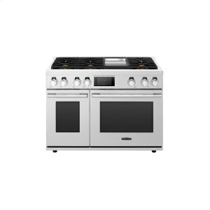 Signature Kitchen Suite48-inch Gas Pro Range with 6 Burners and Griddle