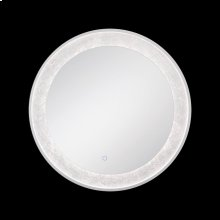 ROUND EDGE-LIT LED MIRROR - Silver