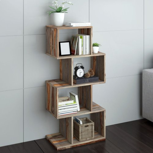 Idris Shelving Unit in Grey