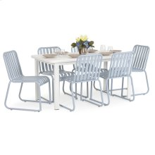 0100 Series 7PC Dining Set Smoke Blue