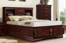 Cherry LP Storage Bed - Queen