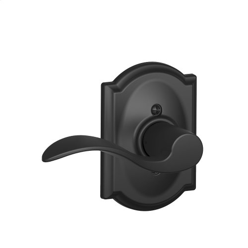 Accent Lever with Camelot Trim Non-Turning Lock - Matte Black