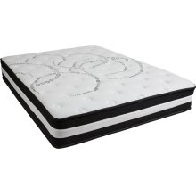 Capri Comfortable Sleep 12 Inch Foam and Pocket Spring Mattress, Queen in a Box