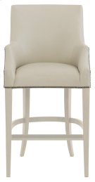 Keeley Leather Bar Stool in Chalk Product Image