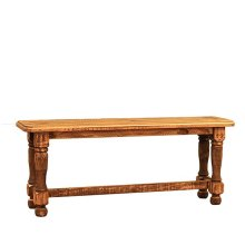 4' Rough Wood Bench