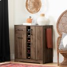 Bar Cabinet and Bottle Storage - Natural Walnut Product Image