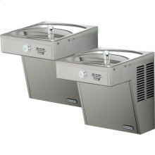 Elkay Cooler Wall Mount Bi-Level GreenSpec ADA, Vandal-Resistant Non-Filtered 8 GPH Stainless