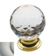 Satin Nickel Crystal Cabinet Knob