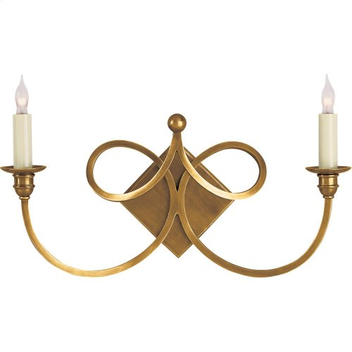 Visual Comfort SC2105HAB Eric Cohler Double Twist 2 Light 19 inch Hand-Rubbed Antique Brass Decorative Wall Light