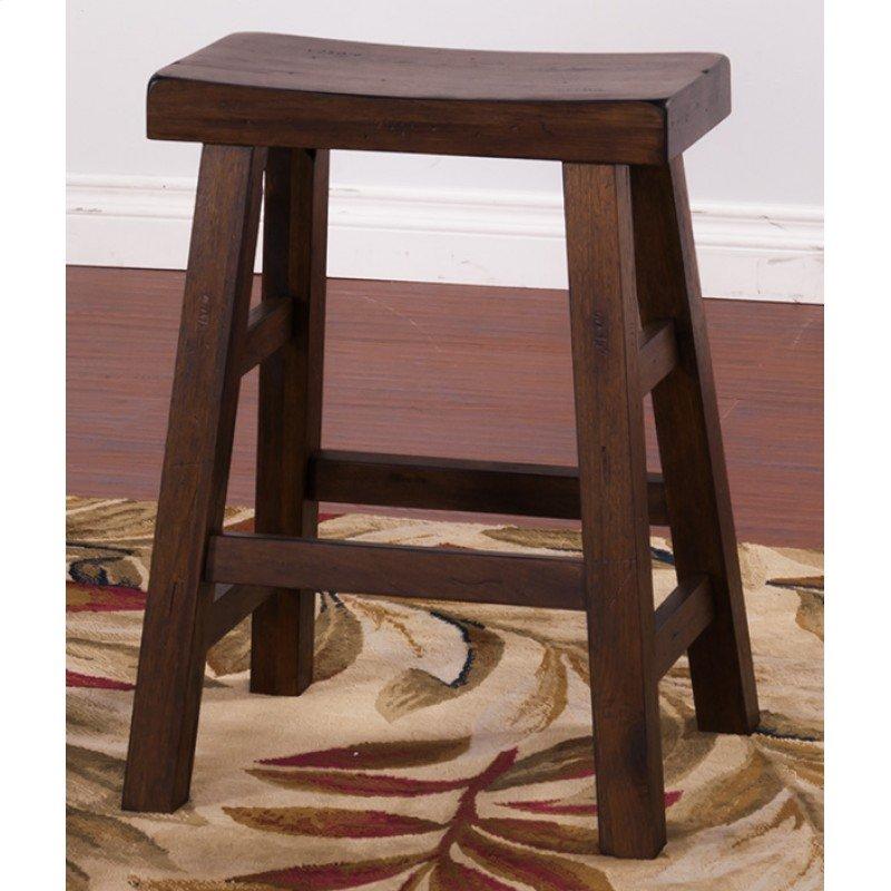 Savannah Saddle Seat Stool 24 H