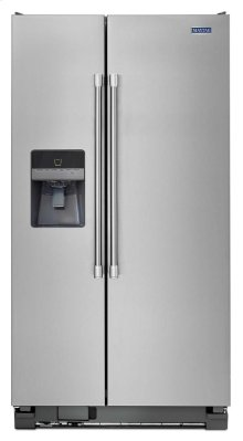 36-inch Wide Side-by-side Refrigerator With External Ice and Water - 25 Cu. Ft.