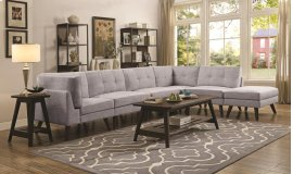 3-Piece Sectional - Grey/Brown