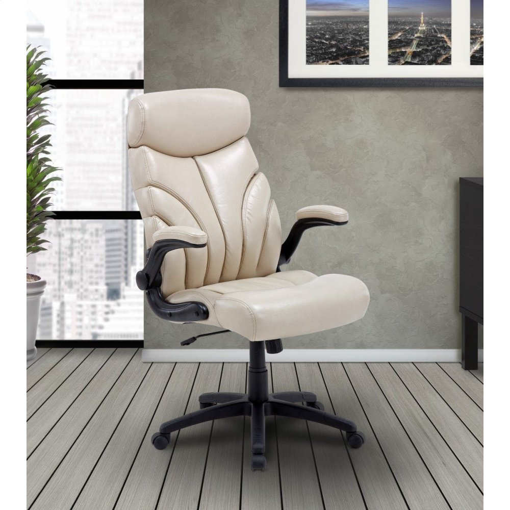 DC#205 Crème Fabric Lift Arm Desk Chair