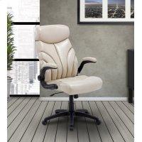 DC#205 Crème Fabric Lift Arm Desk Chair Product Image